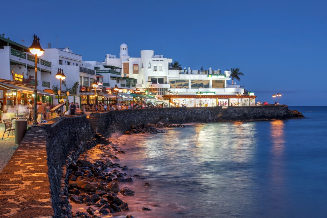 'Night scene of the Playa Blanca resort, on the Lanzarote Island in the Canary Islands, Spain.' - Lanzarote
